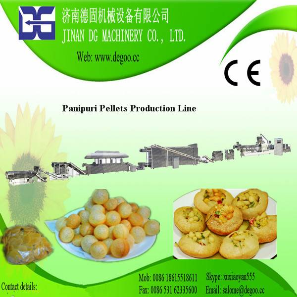 3d Golgappa Panipuri Pani Puri Snack Pellets Fryum Extruder Machine Production Line