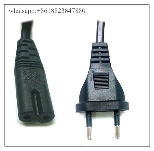 Power Cord Cable EU 2-Prong Laptop AC Plug Adapter Lead 2 Pin