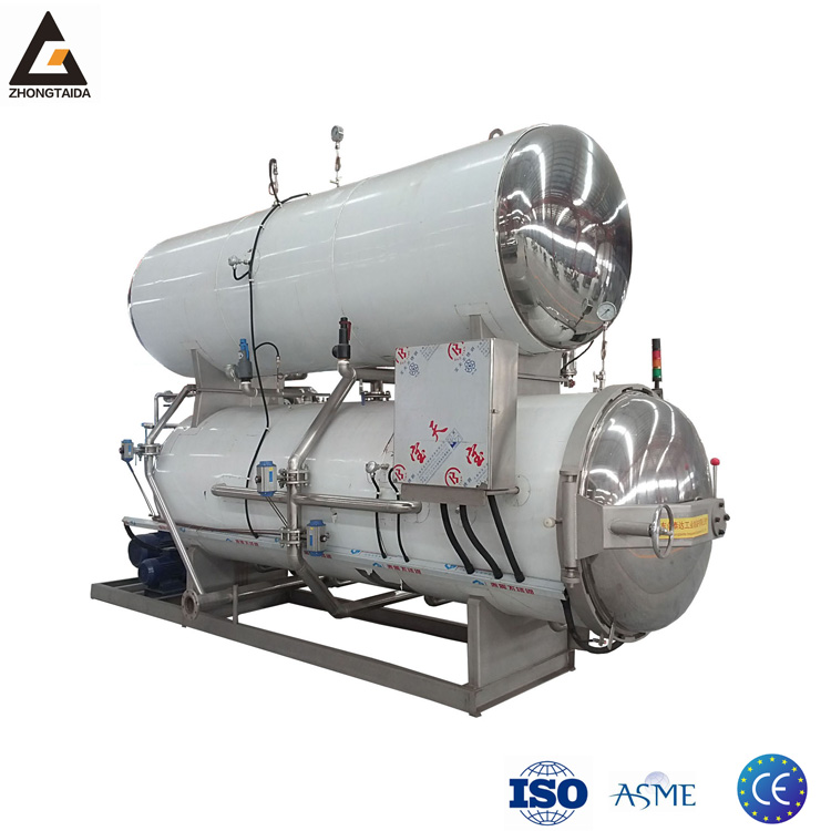 Canned Tuna Steam Spray Sterilization Retort Machine