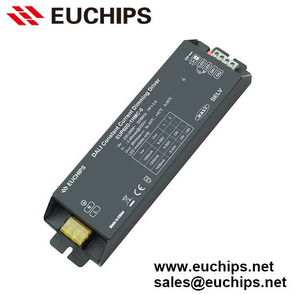 1050/1200/1400mA 1 channel 60W constant current DALI dimmable led driver EUP60D-1HMC-0
