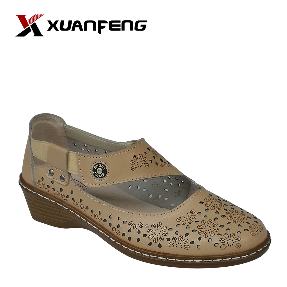 Wholesale High Quality Ladies Leather Sports Sandals Shoes