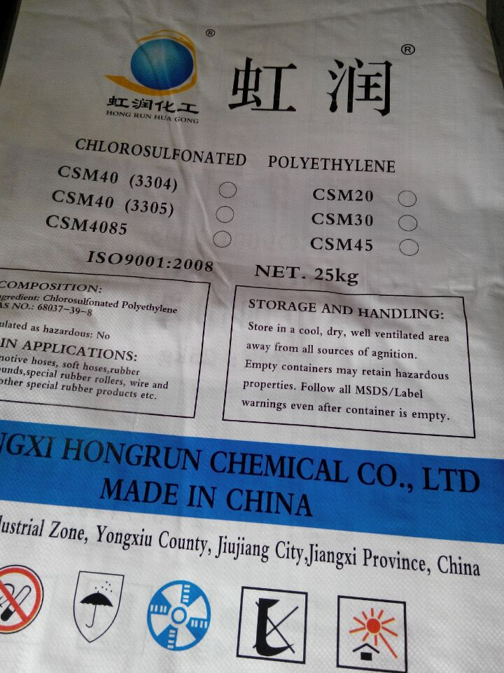 Weather Resistance CSM30 High Quality Chlorosulfonated Polyethylene Rubber
