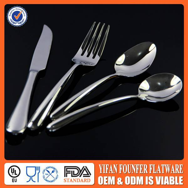 2013 High quality stainless steel flatware set for hotel