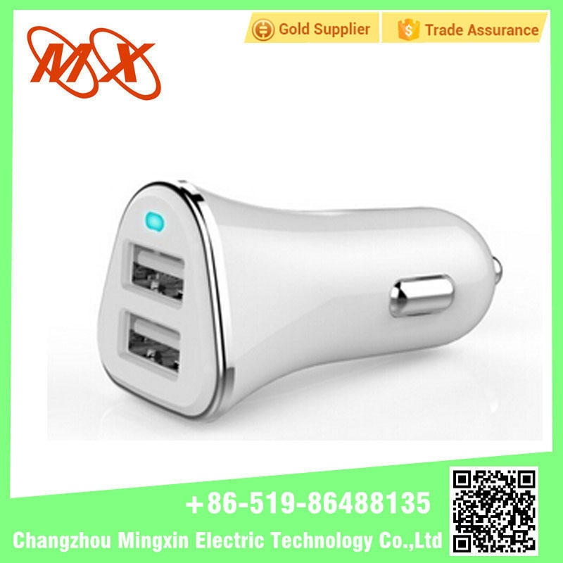 Hot Sale 12v 2.1a Universal LED Light Dual Port Usb Car Battery Charger Adapter For Mobile