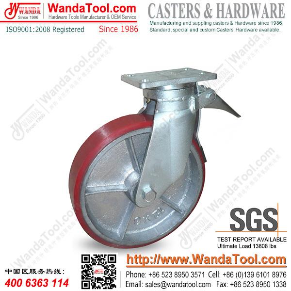 12 inch heavy duty polyurethane plate scaffold casters