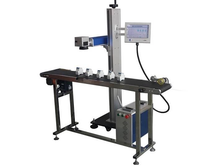 STYLECNC® Online flying laser marking machine with 10W/20W fiber laser