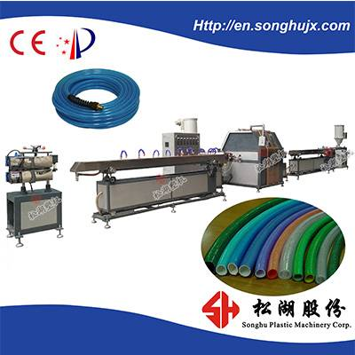 High Output and High Precision TPU/ PVC twisted reinforced pressure tube making machine