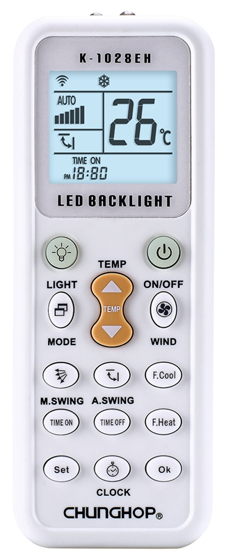 Chunghop Remote Control Brand 1000 in 1 Universal A/C Remote Control K-1028EH