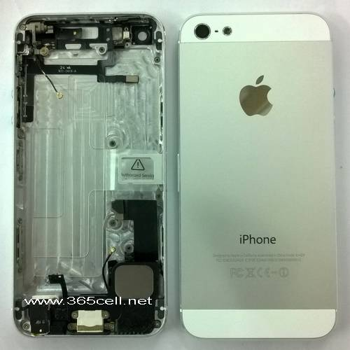 iPhone 5 back cover assembly with charge flex + headphone and small parts