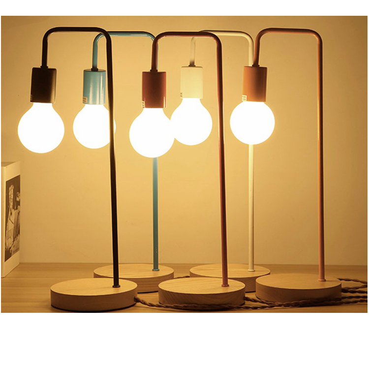 Hot lighting lights Reading wood and metal Table Lamp Desk Lamp metal colorful