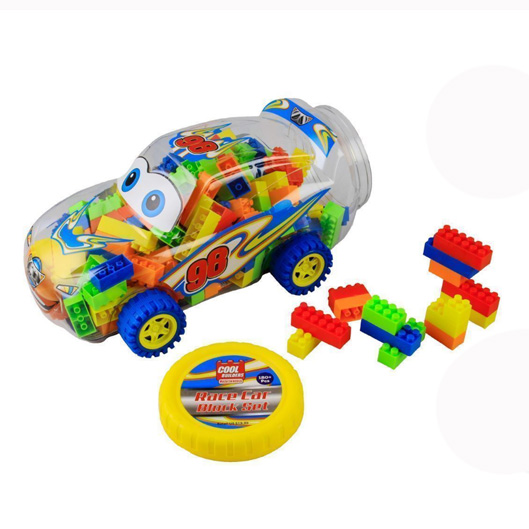 Race car building block set