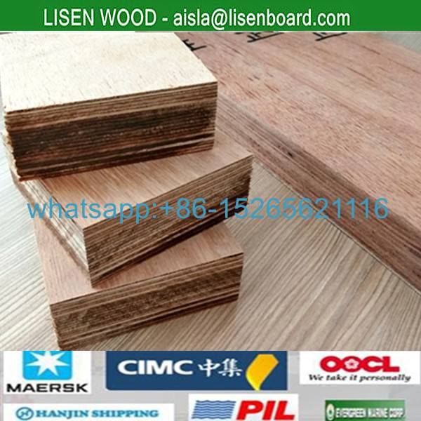 Container flooring 28mm marine plywood , Marine Grade Keruing Face Container Plywood
