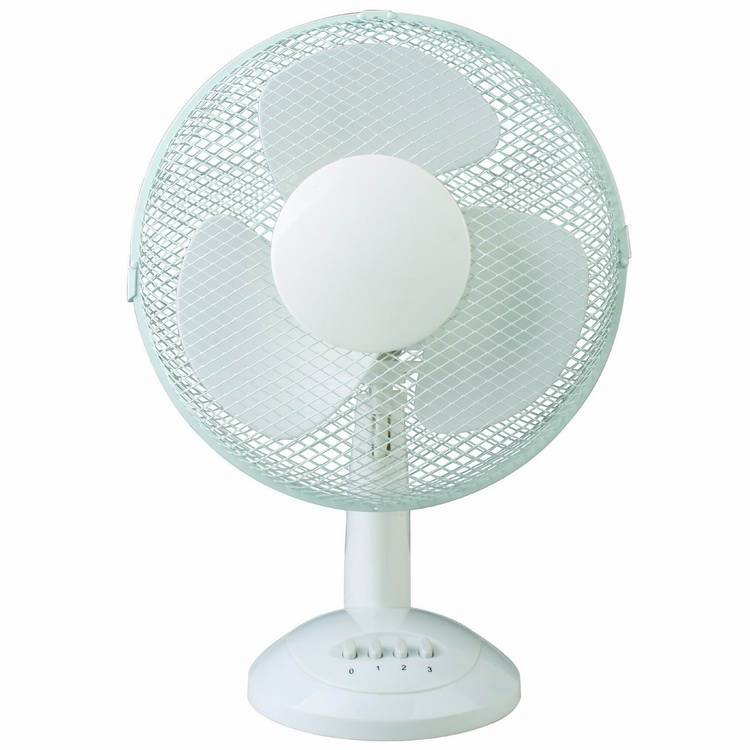 Electric 12 Inch 30cm Plastic 3-speed Table Fan