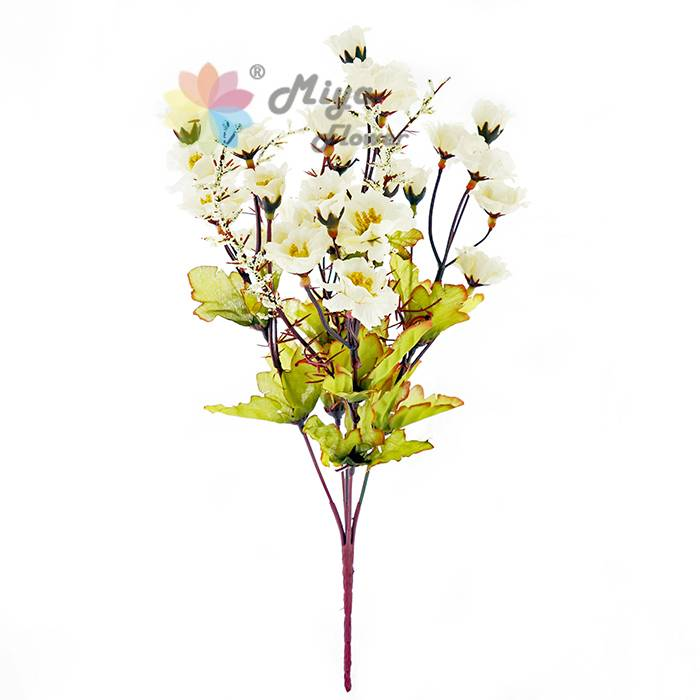 5 branches decorative artificial silk flower Europen Autumn Peony