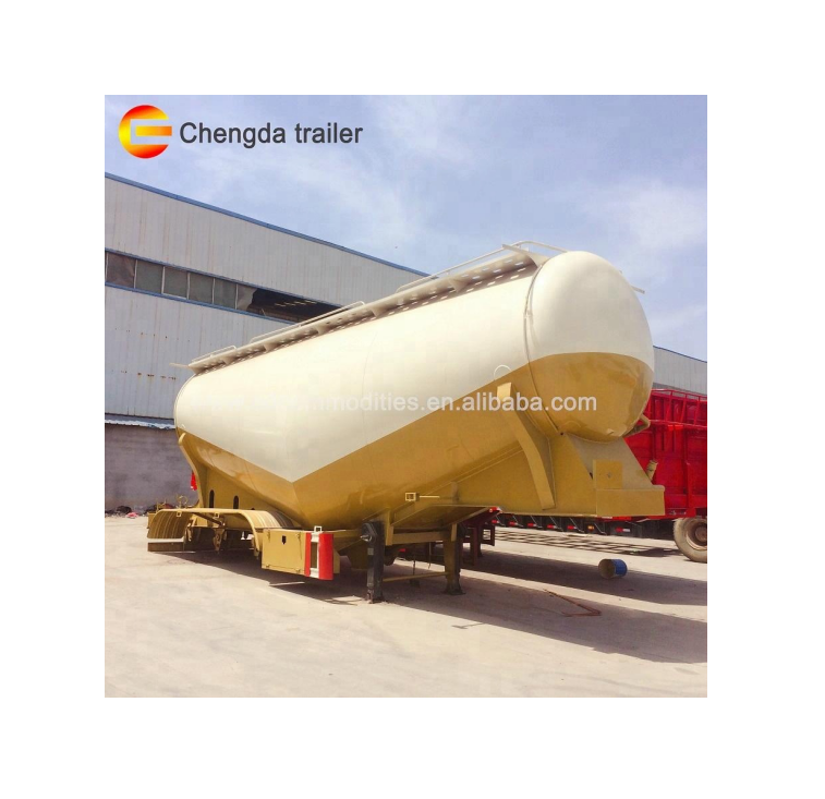 Chengda Brand 40 CBM dry mixing tank for cement and silika cement trailer