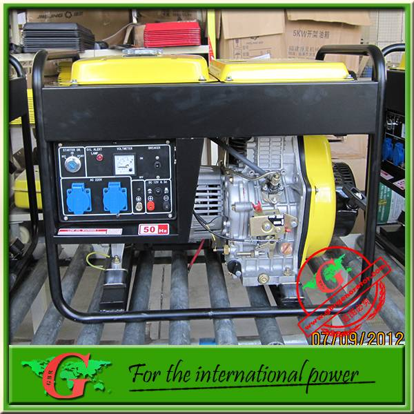 5Kw open diesel generator made with 50Hz or 60Hz 220v