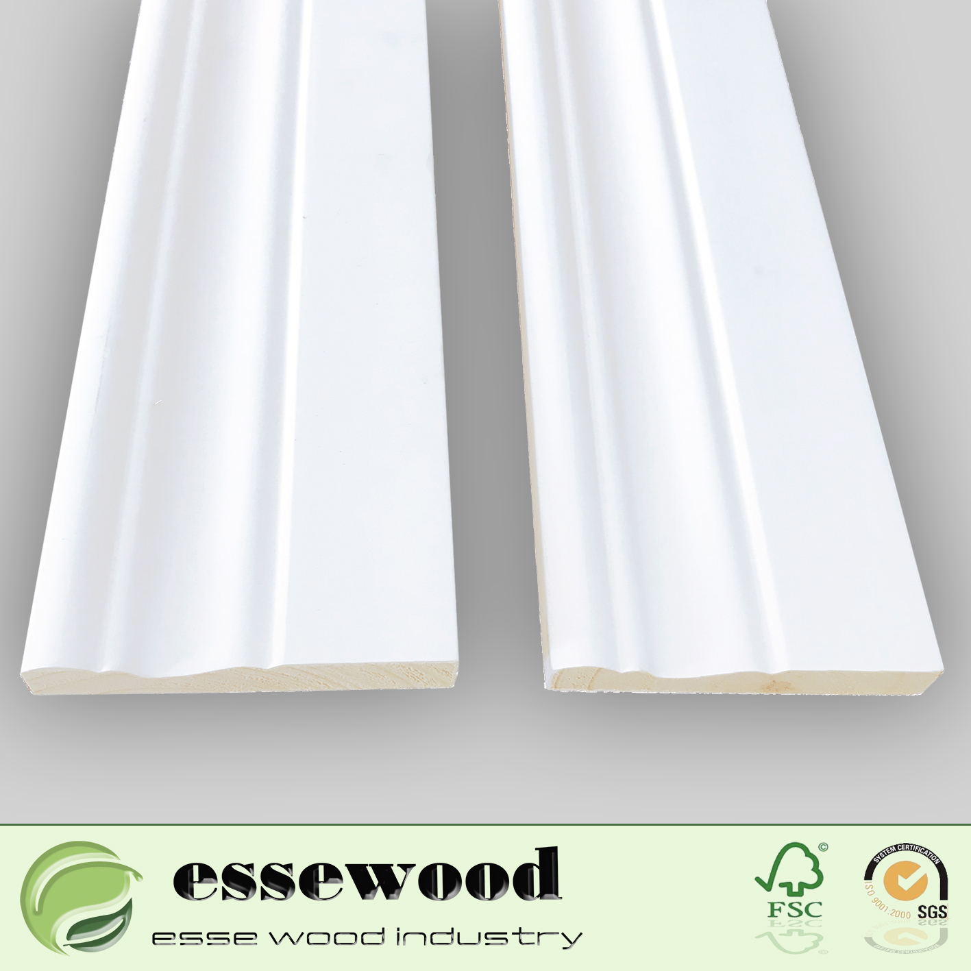 Pine or Fir Mdf Moulding Flooring Accessories Skirting Board