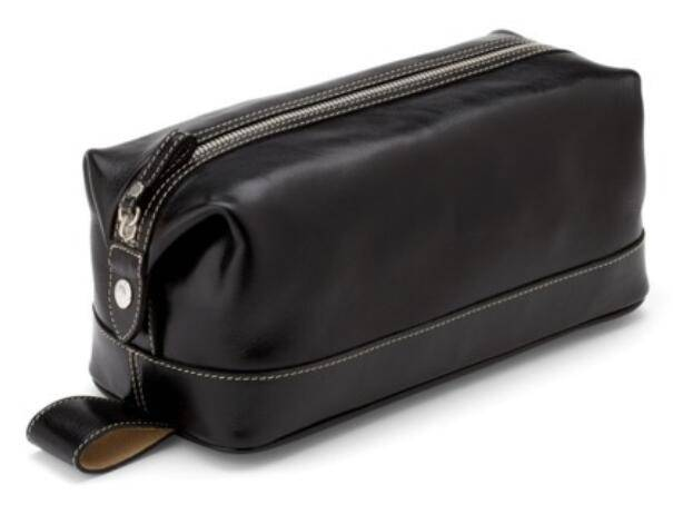Men's leather travel wash bag toiletry bag/leather wash bag/travel wash bag/men travel toiletry bag