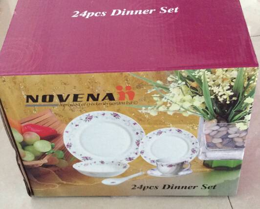 24pcs Dinner Set Opal Glass Mircowave Safe