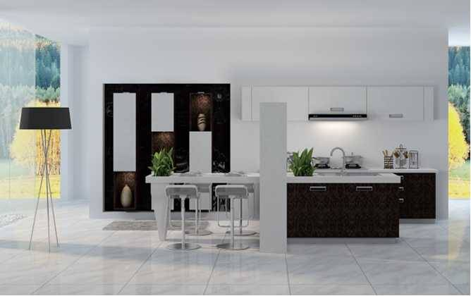 Inception,New design kitchen Cabinet artificial stone panel high quality