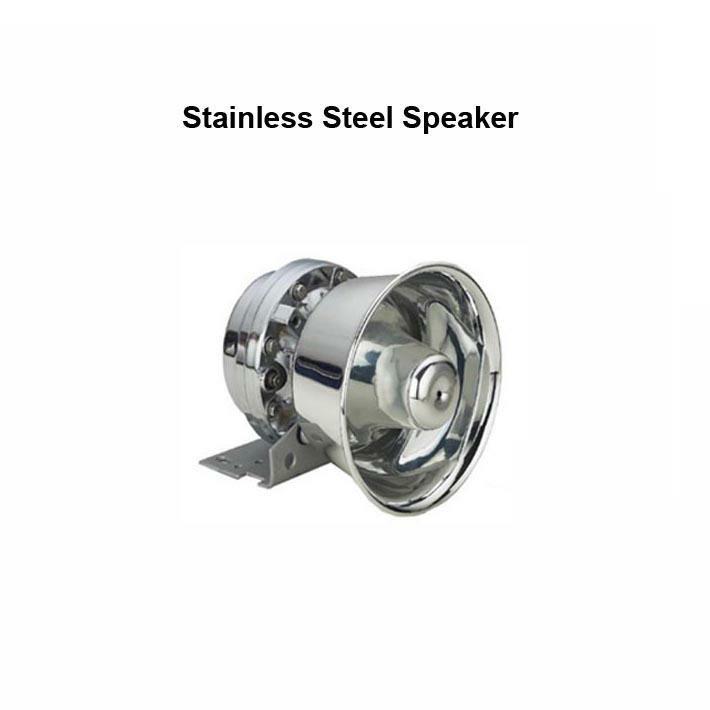 150W Police Siren Speaker Round Stainless Steel Speaker 12V DC 8 Ohms