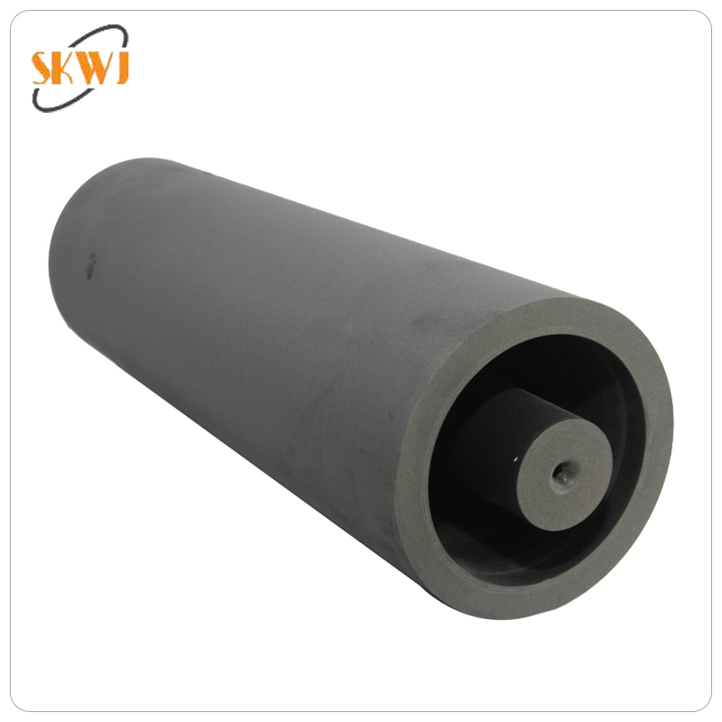 Graphite round die for copper continuous casting machine
