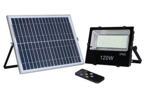 120W solar remote control floodlight emergency light for project