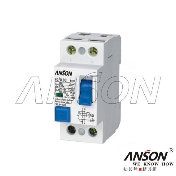 EKL6-100 Residual Current Circuit Breaker(RCCB)
