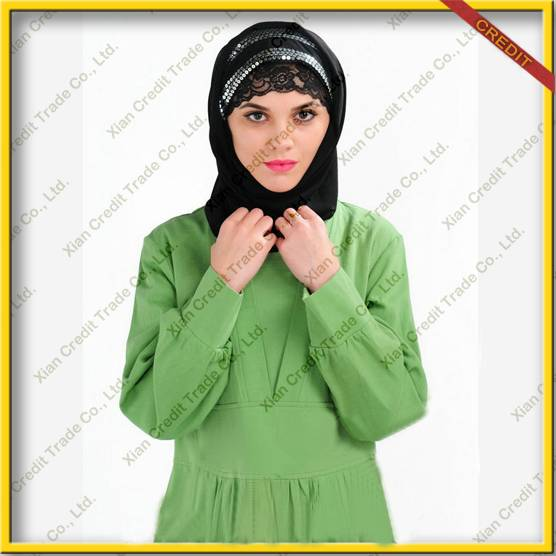 2014 Newest muslim women abaya made of 100% sandwash cotton KDT - 1013