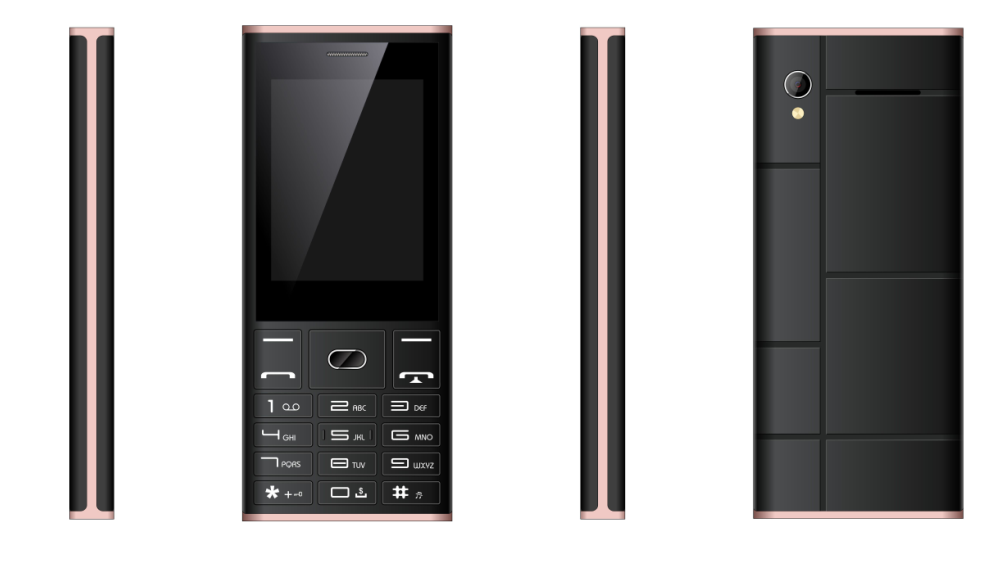 2.4inch feature phone with 1000mAh battery SC6531DA chipset 2G phone