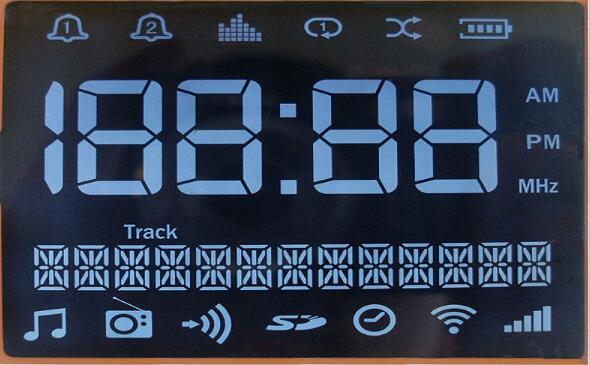 Segment LCD Display for FSTN Display Negative