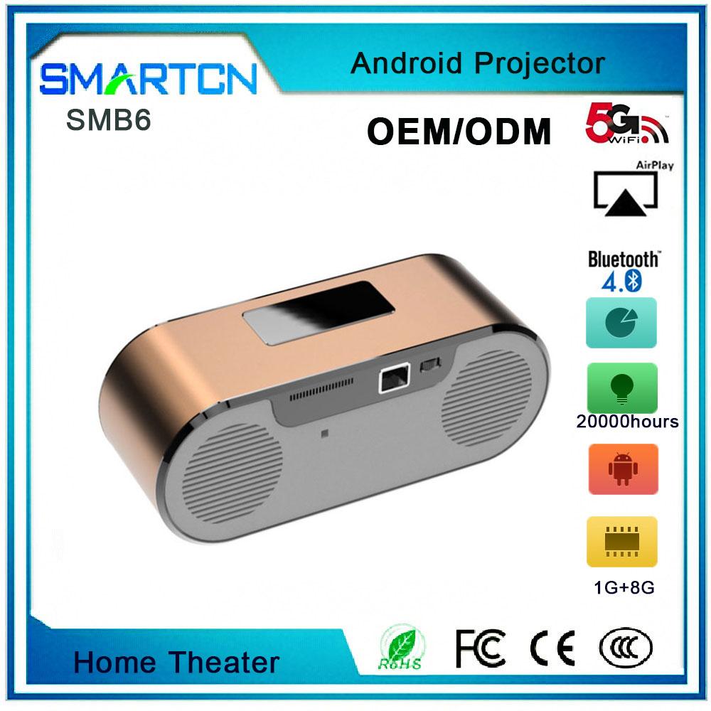Bluetooth Hifi Speaker Home Theater Projector SMB6,LED Projector,HIFI Projector