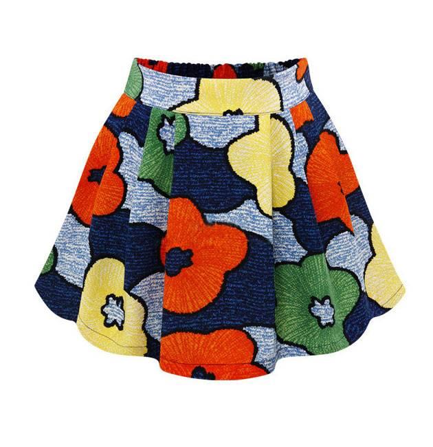 Colorful Pattern Ladies Fashion Skirts