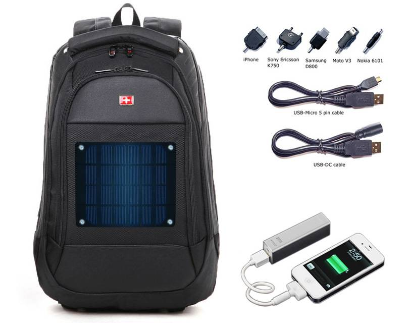 Eco Miracle Electronic Limited offer CY-460 solar swissgear backpack charger kit
