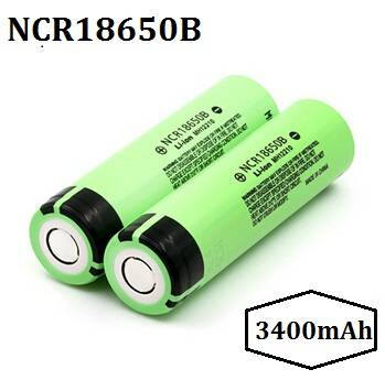 High Capacity 3400mAh NCR18650B 3.6V Li-ion Rechargeable Battery Made in Japan
