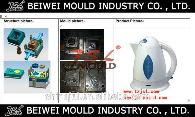 the lasted Injection plastic electric kettle mould