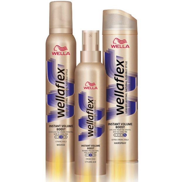 Wellaflex foam, shampoo, hair spray/conditioner mousse