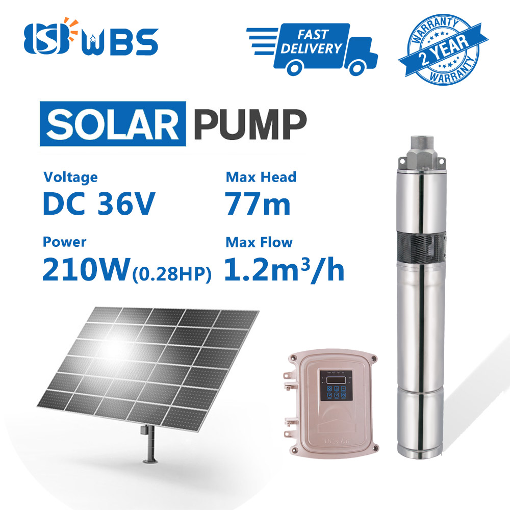 """3"""" DC Screw Solar Bore Pump Submersible Hole Deep Well 36V 210W MPPT Controller"""
