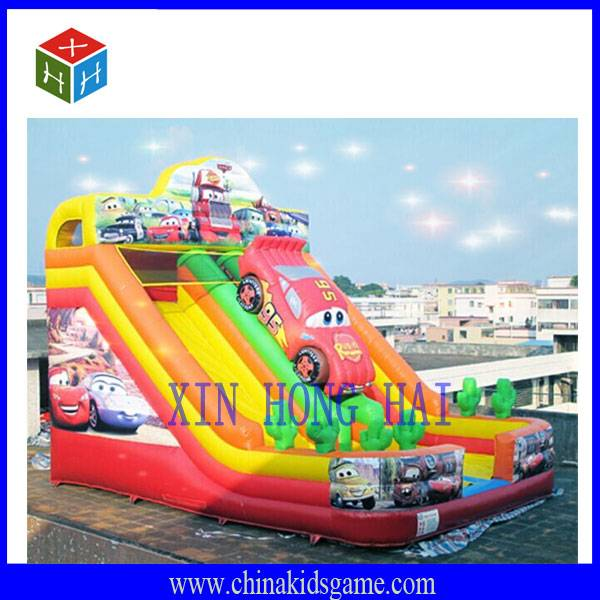 Good quality outdoor children playground, Car inflatable Castle