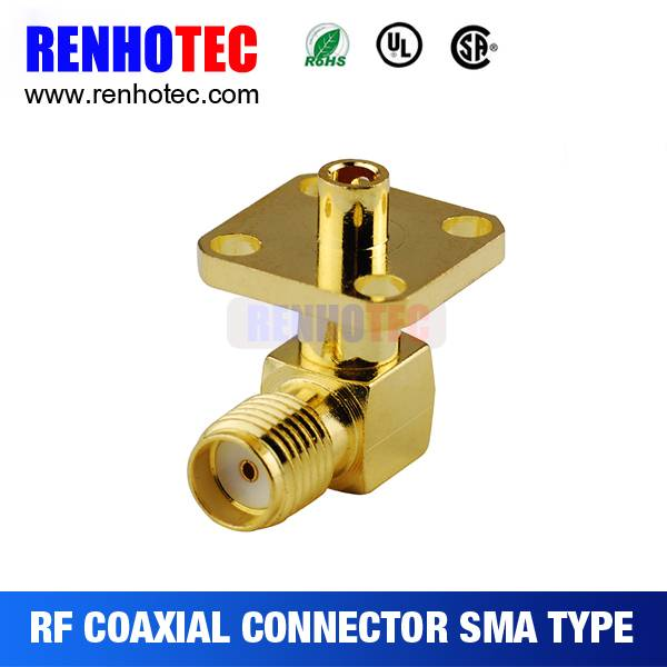 Hot 2016 Female Right Angle Flange Mount RF connector SMA