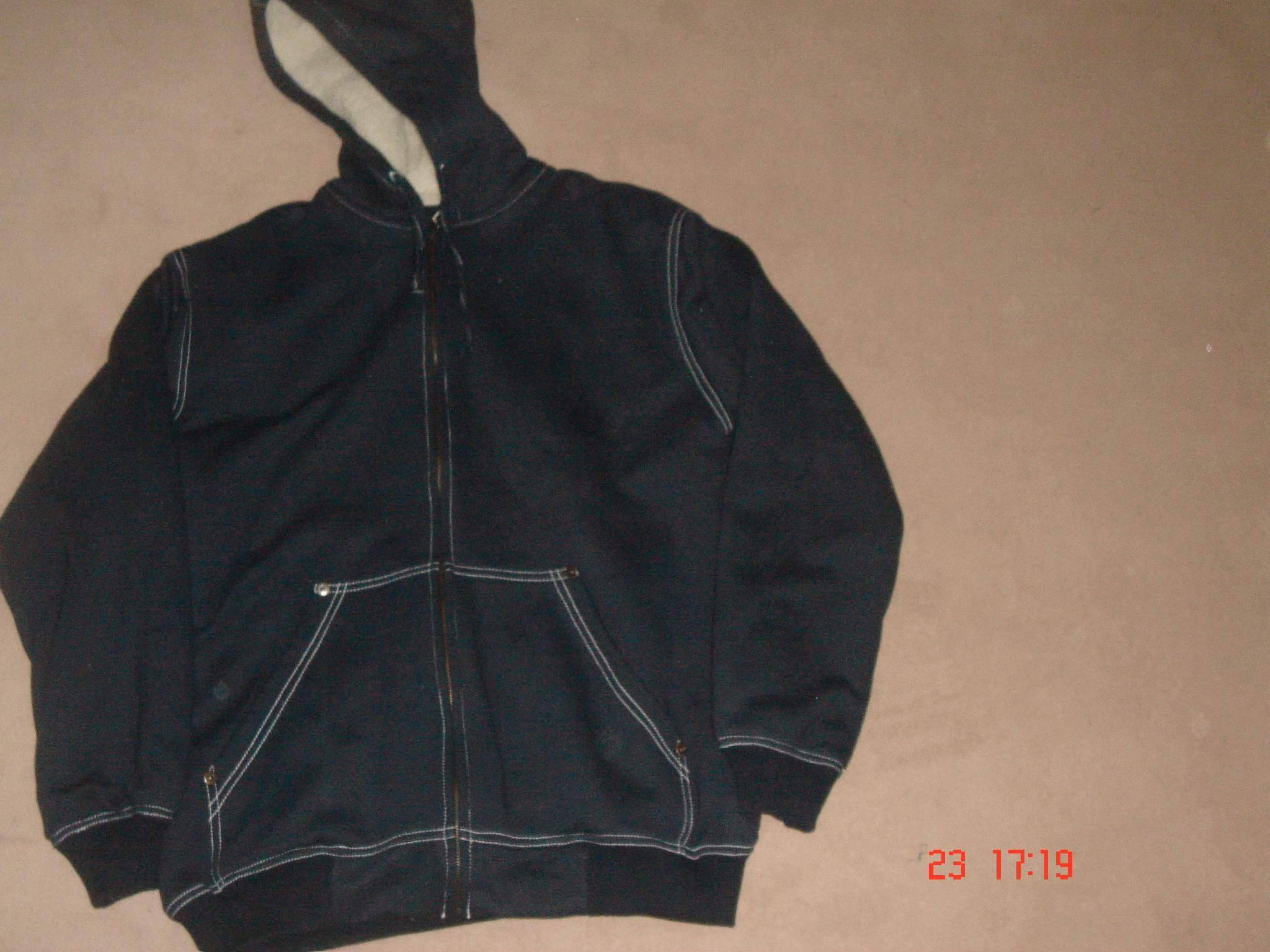 Fleece With Sherpa Lining Jacket With Hood