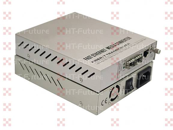 2 Fiber Port and 1 RJ45 Port 10M/100M Industrial Fiber Media Converter