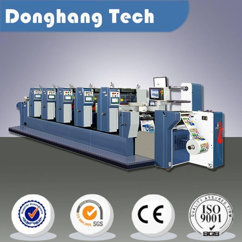 adhesive label offset printing machine