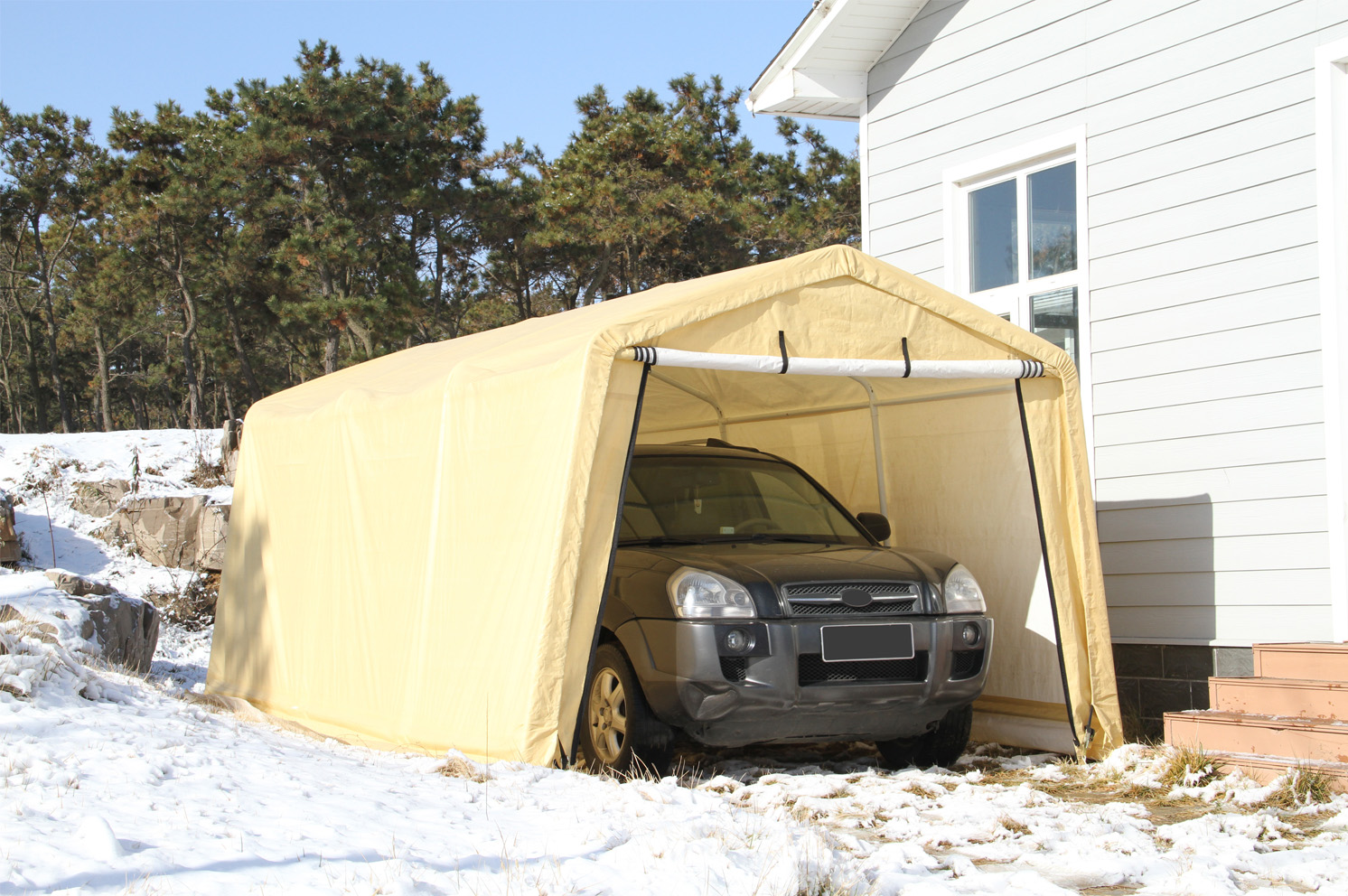 Auto Storage Shelter,10x17 Feet Carport,Durable Garage