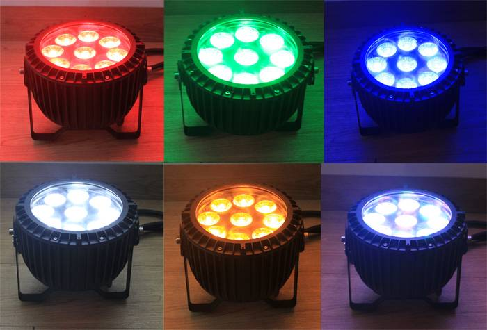 RGBWA+UV 9pcs 6in1 Par LED stage wash waterproof light