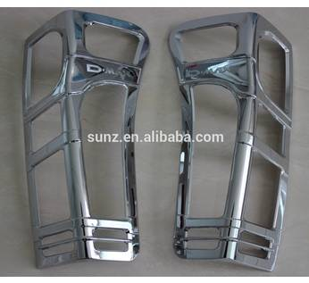 TAIL LIGHT COVER LAMP COVER CHROMED FOR ISUZU DMAX 2012-CHROMED KITS