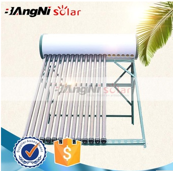 Non-pressure Vacuum Tube Compact Solar Water heater with CE Certificate