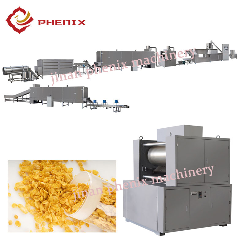automatic corn flakes food extruder making machine
