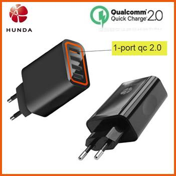 28w QC 2.0 AC Power Supply 4 Port USB Wall Charger