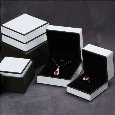 leather cover packaging jewelry plastic box,jewelry box